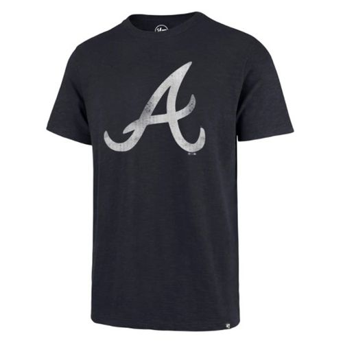 "'47 Brand Men's Atlanta Braves Grit Scrum ""A"" T-Shirt (Fall Navy)"