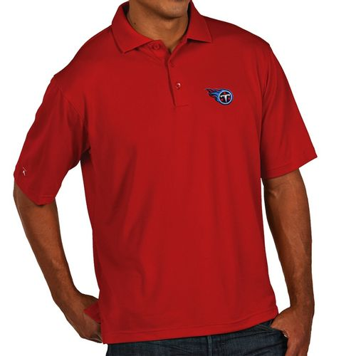 Men's Antigua Tennessee Titans Xtra-Lite Primary Polo (Dark Red)