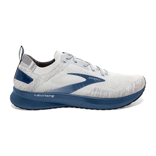 Men's Brooks Levitate 4 (Grey/Oyster/Blue)
