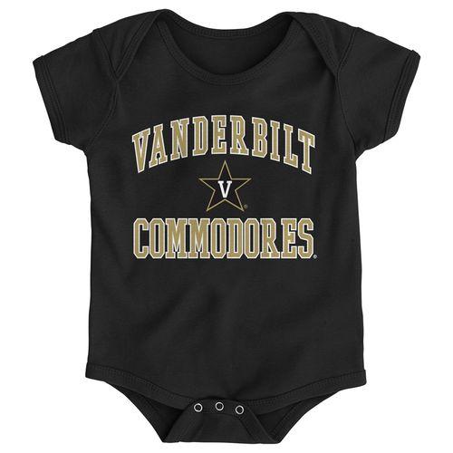 Newborn Vanderbilt Commodores Primary Logo Onesie (Black)