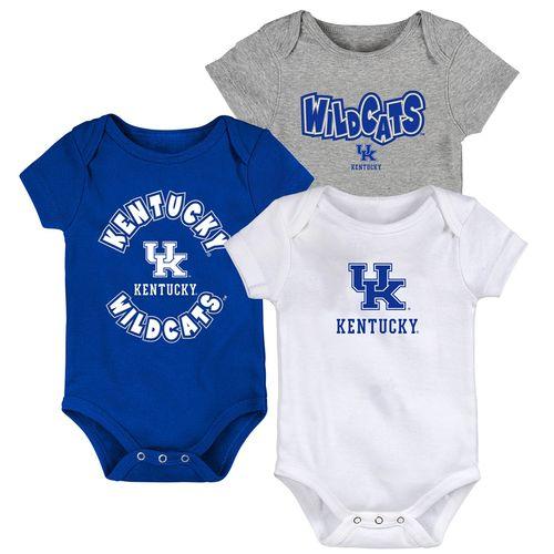 Newborn Kentucky Wildcats 3-Pack Onesies (Multi)