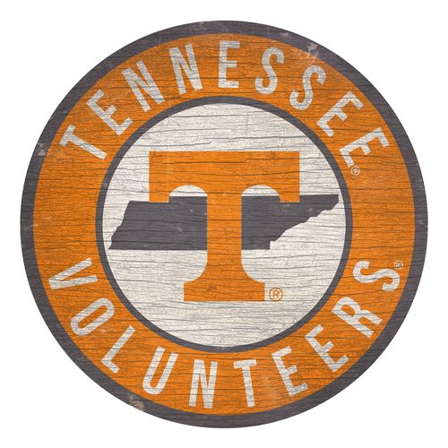 Tennessee Volunteers State Circle Wood Sign
