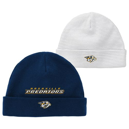 Newborn Nashville Predators 2-Pack Team Hats (Navy)