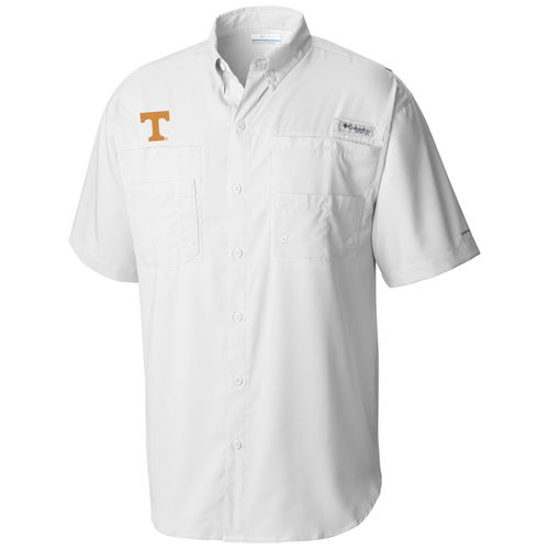 Men's Columbia Tennessee Volunteers Tamiami Button-Up Shirt (White)
