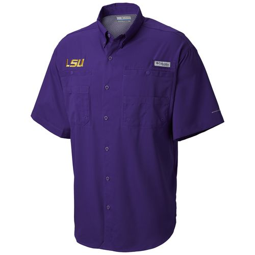 Men's Columbia LSU Tigers Tamiami Button-Up Shirt (Purple)