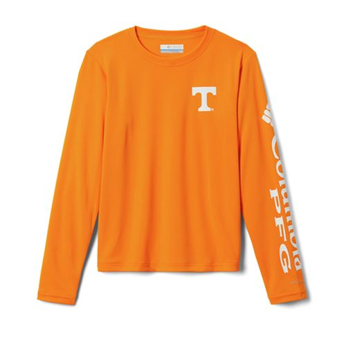 Youth Columbia Tennessee Volunteers Terminal Tackle Long Sleeve Shirt (Orange)