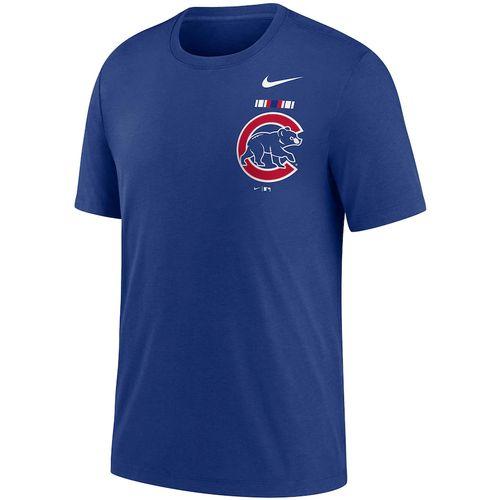 Men's Nike Chicago Cubs Color Bar Tri-Blend Tee (Royal Blue)