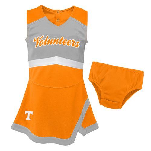 Toddler Tennessee Volunteers Cheer Dress (Orange)
