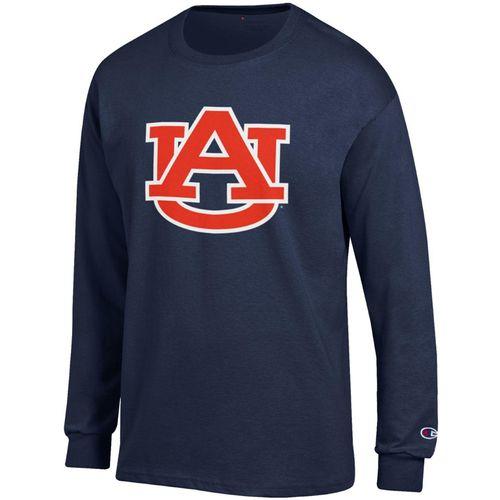 Men's Champion Auburn Tigers AU Core Long Sleeve Shirt (Navy)