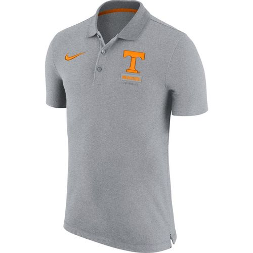 Men's Nike Tennessee Volunteers Solid Knit Polo (Wolf Grey/Orange)