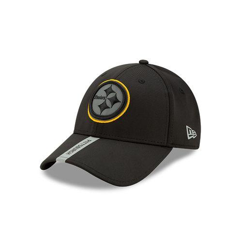New Era Pittsburgh Steelers 9Forty Adjustable Snapback Hat (Black/Silver)