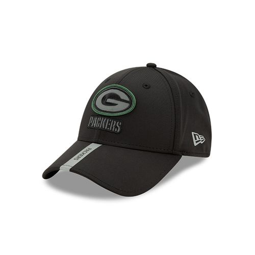 New Era Green Bay Packers 9Forty Adjustable Snapback Hat (Black/Silver)