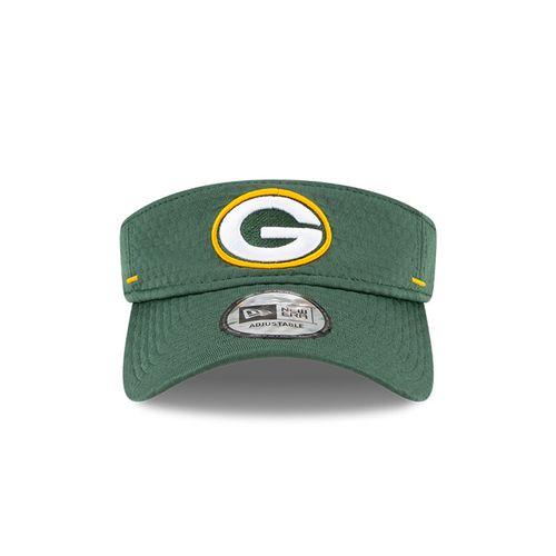 New Era Green Bay Packers Training Camp Adjustable Visor (Green)