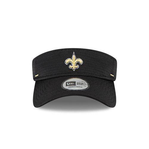 New Era New Orleans Saints Training Camp Adjustable Visor (Black)