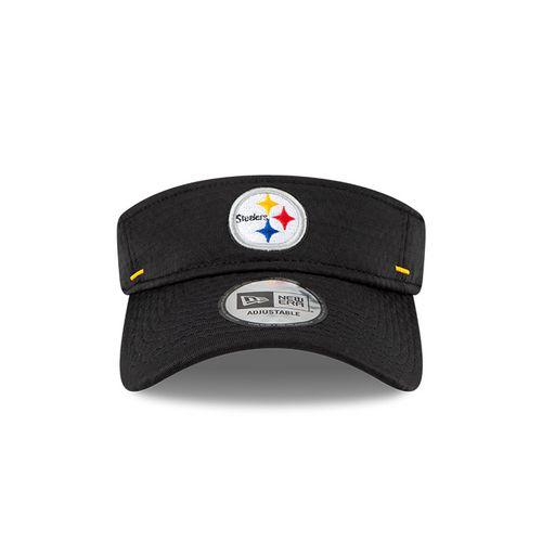 New Era Pittsburgh Steelers Training Camp Adjustable Visor (Black)