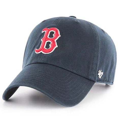 '47 Brand Boston Red Sox Clean Up Adjustable Hat (Navy/Red)