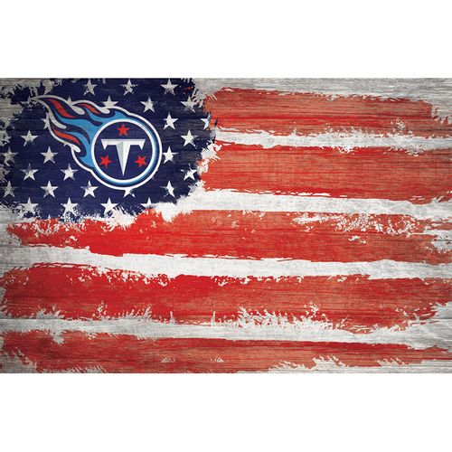 Tennessee Titans Wooden Flag