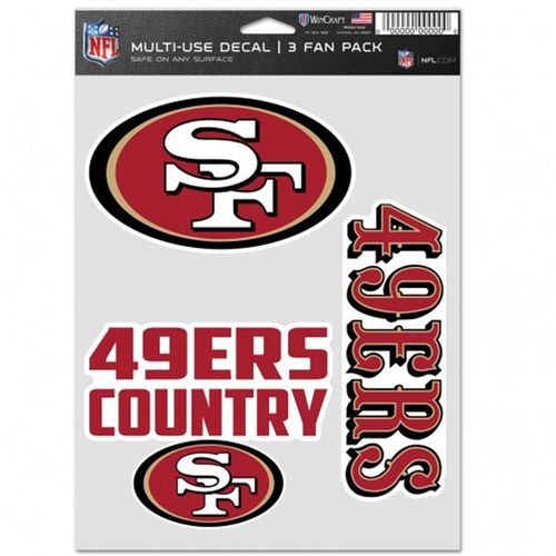 San Francisco 49ers 3 Decal Fan Pack