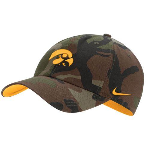 Nike Iowa Hawkeyes Heritage 86 Adjustable Hat (Camouflage)