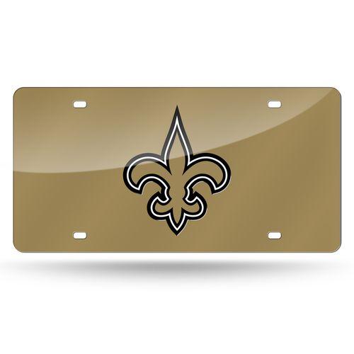 New Orleans Saints Logo License Plate (Gold)