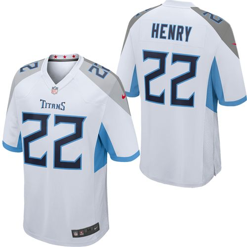 Men's Nike Tennessee Titans Derrick Henry Road Game Jersey (White)