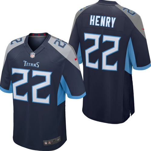 Men's Nike Tennessee Titans Derrick Henry Home Game Jersey (Navy)