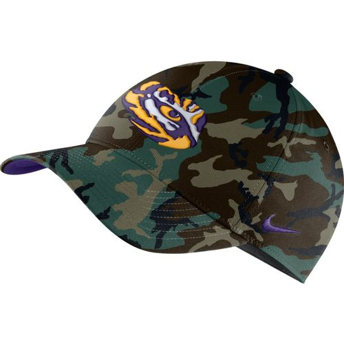 Nike LSU Tigers Heritage86 Washed Camo Adjustable Hat (Green Camo)