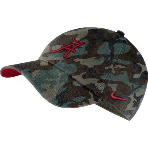 Nike Alabama Crimson Tide Heritage86 Washed Camo Adjustable Hat (Green Camo)