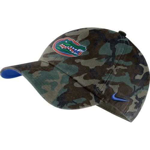 Nike Florida Gators Heritage86 Washed Camo Adjustable Hat (Green Camo)