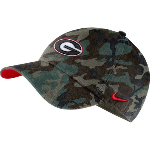 Nike Georgia Bulldogs Heritage86 Washed Camo Adjustable Hat (Green Camo)