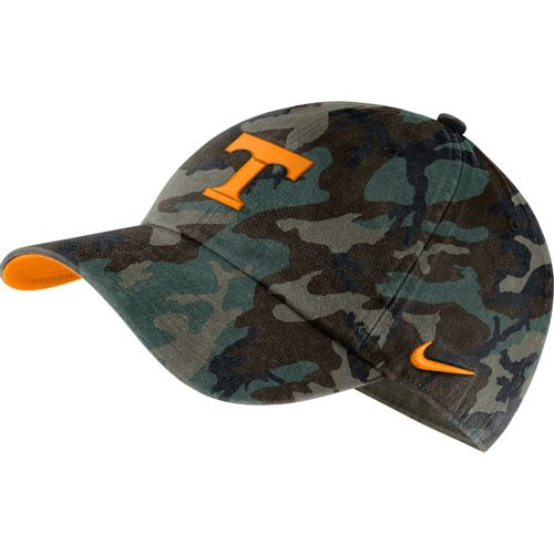 Nike Tennessee Volunteers Heritage86 Washed Camo Adjustable Hat (Green Camo)