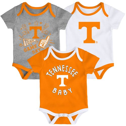 Newborn Tennessee Volunteers 3-Pack Onesies (Multi)