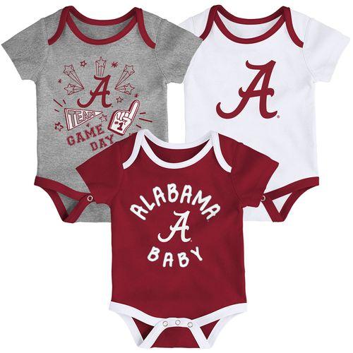 Newborn Alabama Crimson Tide 3-Pack Onesies (Multi)