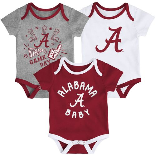 Infant Alabama Crimson Tide 3-Pack Onesies (Multi)