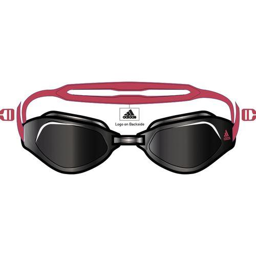 Adidas Peristar Fit Swim Goggles (Smoke/Red)