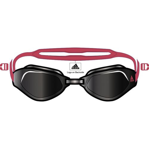 Adidas Peristar Fit Swim Goggles (Smoke/Red)