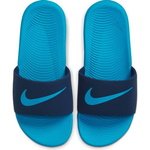 Kid's Nike Kawa Slide (Navy/Blue)