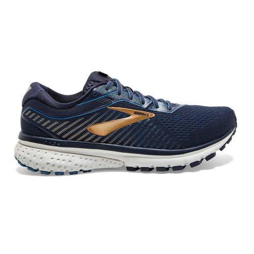 Men's Brooks Ghost 12 Extra Wide (Water/Gold)