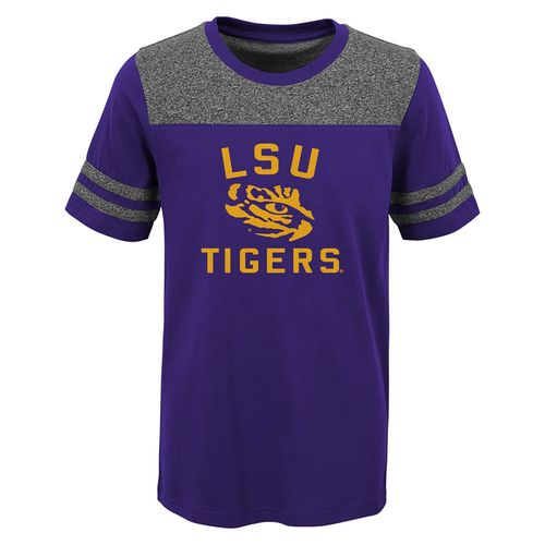 Kid's LSU Tigers Steel T-Shirt (Purple)