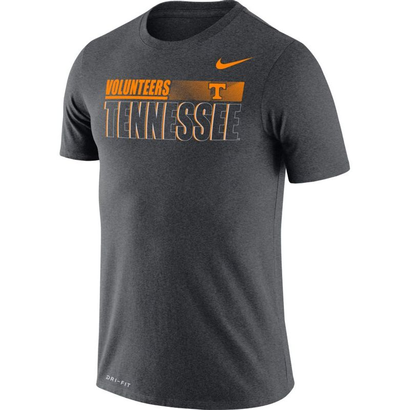 Men's Nike Tennessee Volunteers Team Issue Legend T-Shirt (Charcoal)