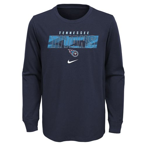 Youth Nike Tennessee Titans Playbook Long Sleeve Shirt (Navy)