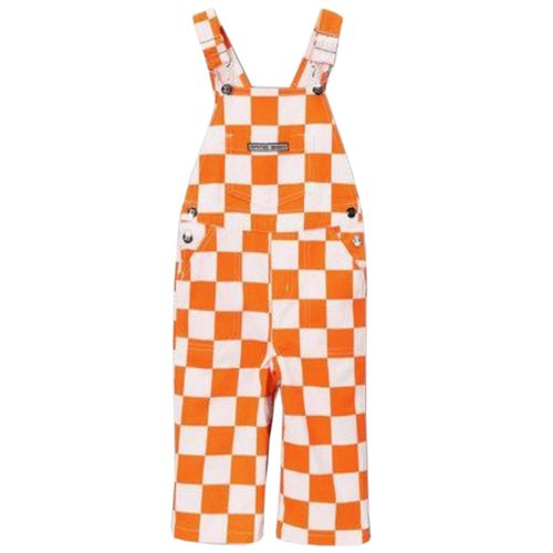 Youth Tennessee Volunteers Checkerboard Overalls (Orange/White)