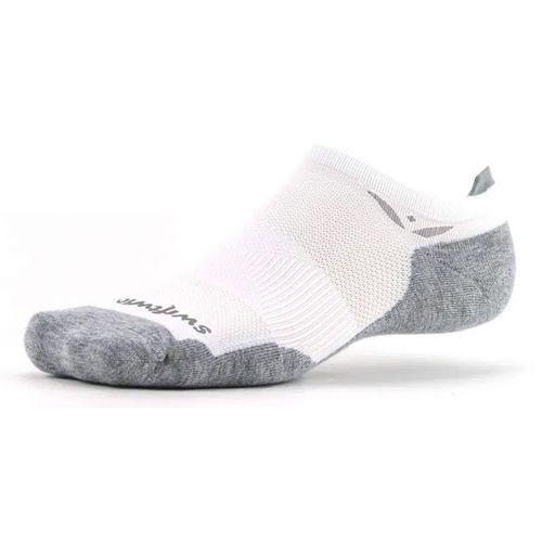 Swiftwick Maxus Zero Tab Sock (White/Grey)
