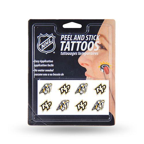 Nashville Predators 8 Piece Face Tattoo Set