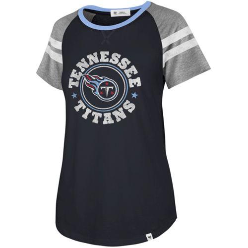 '47 Brand Women's Tennessee Titans Static Raglan T-Shirt (Navy)