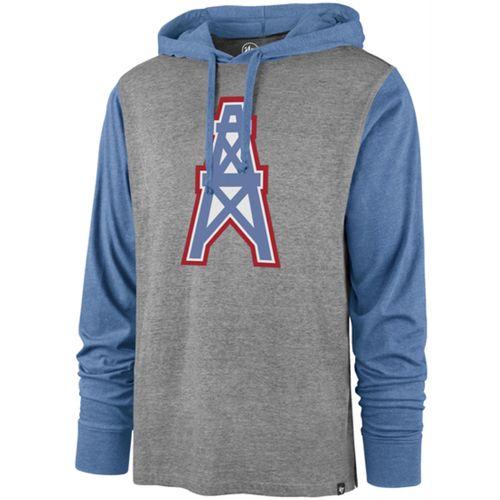 '47 Brand Men's Tennessee Titans Callback Hooded Long Sleeve Shirt (Slate/Cobalt)