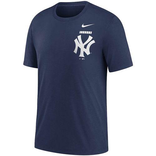 Men's Nike New York Yankees Color Bar Tri-Blend Tee (Navy)