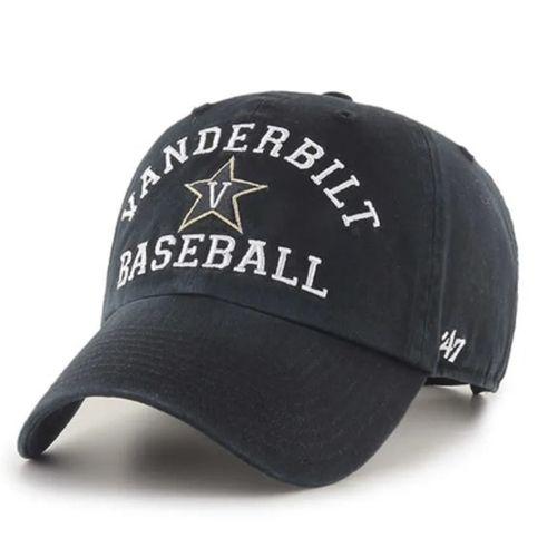 '47 Brand Vanderbilt Commodores Archway Baseball Adjustable Hat (Black/Gold)