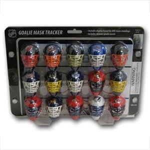 NHL Goalie Mask Standings Tracker Set