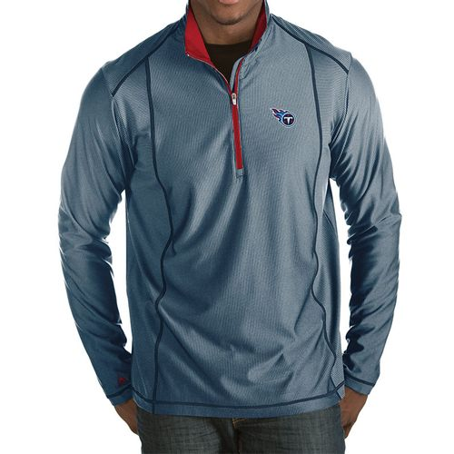 Men's Tennessee Titans Primary Logo Tempo 1/2 Zip Jacket (Navy/Red)